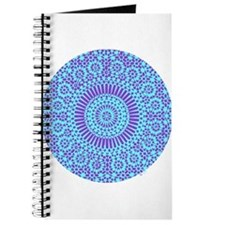 spiritual meditation mandala (aqua) Journal