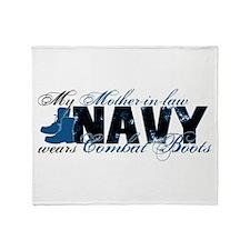 Mother Law Combat Boots - NAVY Throw Blanket