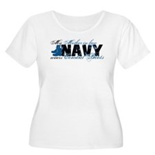 Mother Law Combat Boots - NAVY T-Shirt