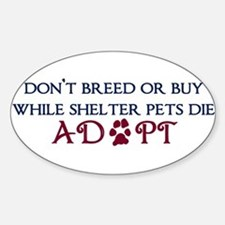 Dont Breed Sticker.png Sticker (Oval)