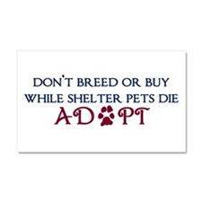 Dont Breed Sticker.png Car Magnet 20 x 12