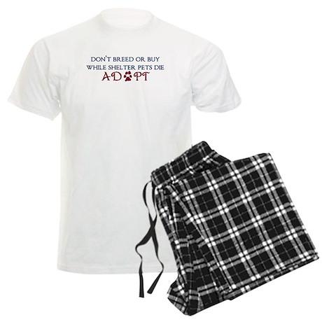 Dont Breed Sticker.png Men's Light Pajamas