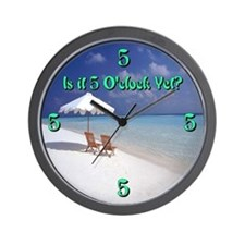 5 Oclock Yet? Lounging Wall Clock