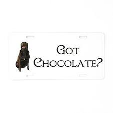 got chocolate? Aluminum License Plate