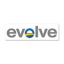 """Obama """"Evolve"""" Car Magnet 10 x 3"""