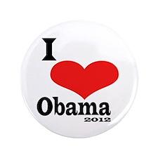 """I Love Obama 3.5"""" Button"""