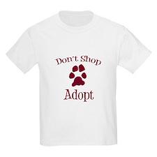 Don't Shop Adopt Kids Light T-Shirt
