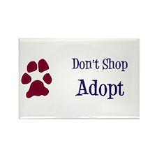 Don't Shop Adopt Rectangle Magnet