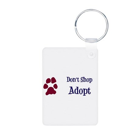 Don't Shop Adopt Aluminum Photo Keychain