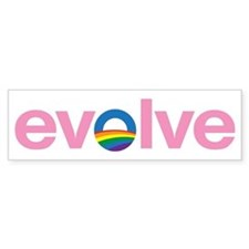 "Obama ""Evolve"" Bumper Sticker Pink"