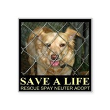 "Save A Life Square Sticker 3"" x 3"""