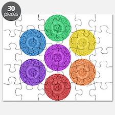 seven chakras circle bold Puzzle