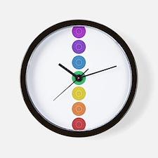 seven chakras circle bold Wall Clock