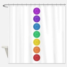 seven chakras circle bold Shower Curtain