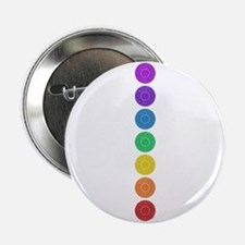 """seven chakras circle bold 2.25"""" Button"""