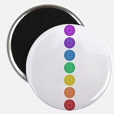 seven chakras circle bold Magnet
