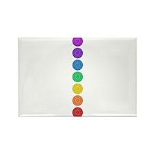 seven chakras circle bold Rectangle Magnet (100 pa
