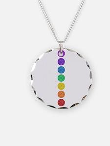 seven chakras circle bold Necklace