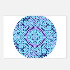 spiritual meditation mandala (aqua) Postcards (Pac