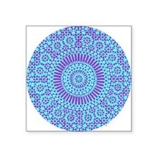 spiritual meditation mandala (aqua) Square Sticker