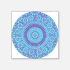 spiritual meditation mandala (aqua) Square Sticker