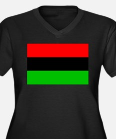 African American Flag 1 Women's Plus Size V-Neck D