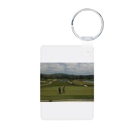 ray golf Aluminum Photo Keychain