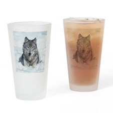 Wolf Drinking Glass