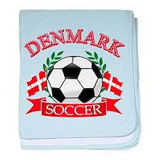 Denmark Soccer Designs baby blanket