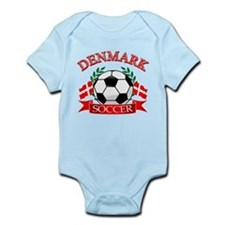 Denmark Soccer Designs Infant Bodysuit