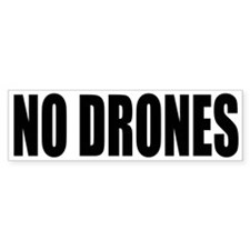 NO DRONES Bumper Car Sticker