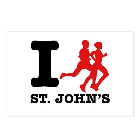 I Run St.John's Postcards (Package of 8)