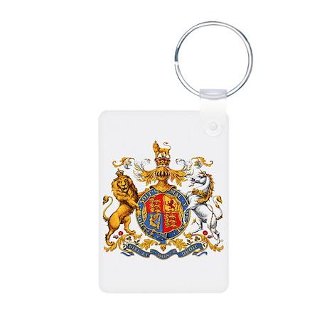Royal Coat Of Arms Aluminum Photo Keychain