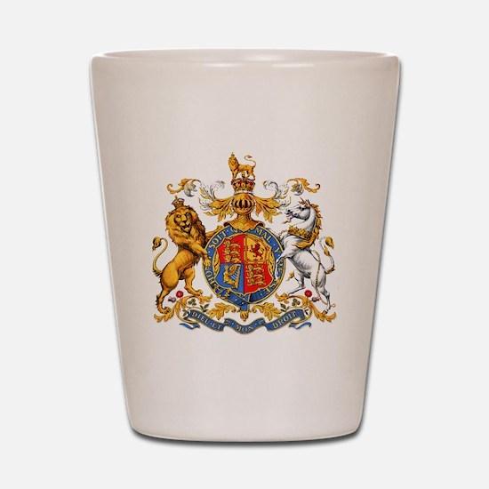 Royal Coat Of Arms Shot Glass