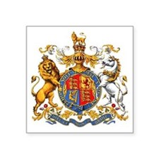 "Royal Coat of Arms Square Sticker 3"" x 3"""