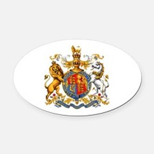 Royal Coat Of Arms Oval Car Magnet