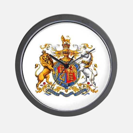 Royal Coat Of Arms Wall Clock