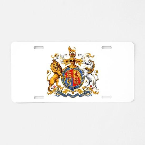 Royal Coat Of Arms Aluminum License Plate