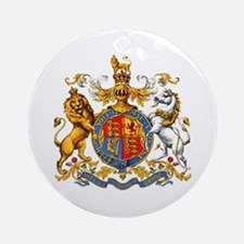 Royal Coat Of Arms Ornament (Round)