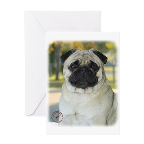 Pug 9K031D-09 Greeting Card