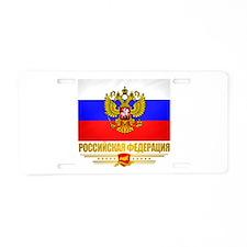 Russian Flag COA Aluminum License Plate
