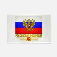 Russian Flag COA Rectangle Magnet