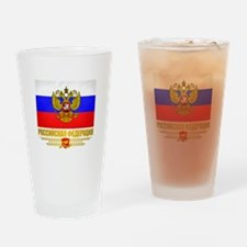 Russian Flag COA Drinking Glass
