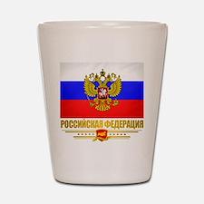Russian Flag COA Shot Glass