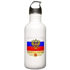 Russian Flag COA Sports Water Bottle