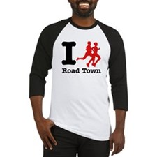 I Run Road Town Baseball Jersey