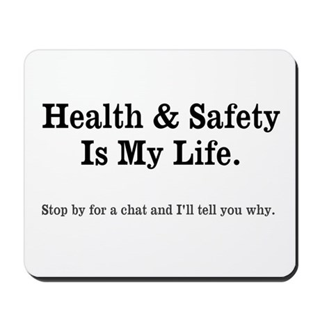 health and safety quote mousepad 648177323 on workplace safety