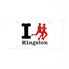 I Run Kingston Aluminum License Plate