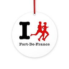 I Run Fort-De-France Ornament (Round)