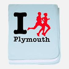 I Run Plymouth baby blanket